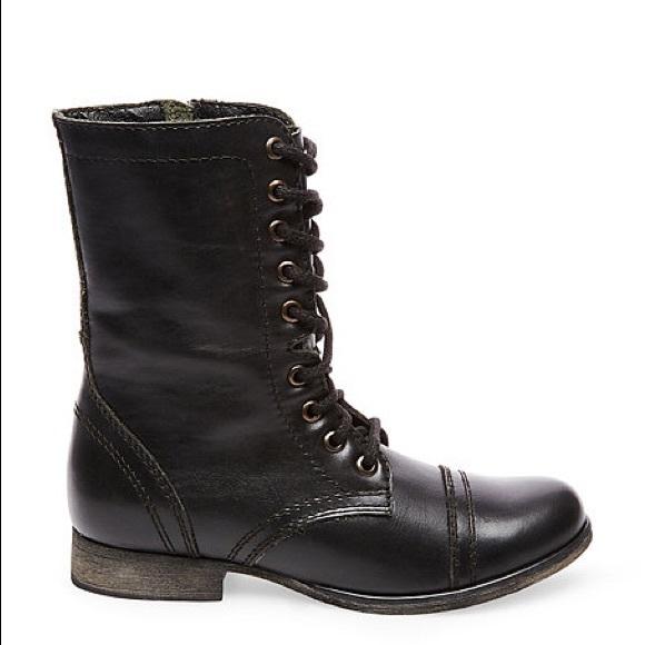 d5b6d7b1c55 Steve Madden Women's Troopa Combat Boots - Black